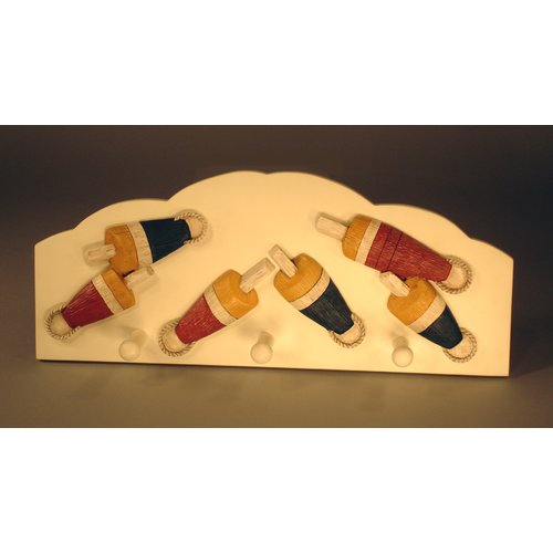 Judith Edwards Designs Three Buoy Wall Peg Figurine Wall Decor