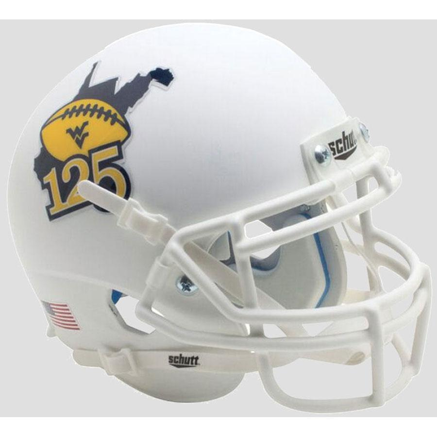 Schutt Authentic West Virginia Mountaineers White 125 XP Football Helmet