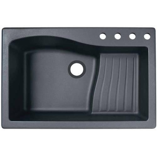 "SWAN Granite  Dual Mount Kitchen Sink (22"" x 33"") with 4 ..."