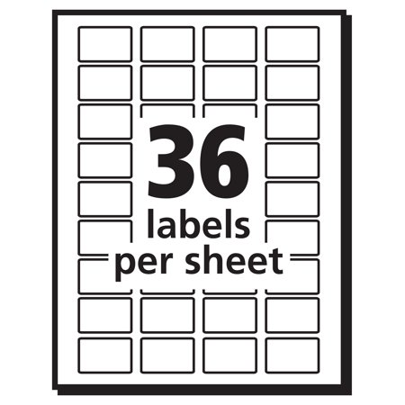 Avery Removable Labels Removable Adhesive 12 X 34 1000