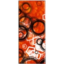 Mightyskins Protective Vinyl Skin Decal Cover for Apple iPod Nano 4G (4th Generation) wrap sticker skins - Orange Frenzy