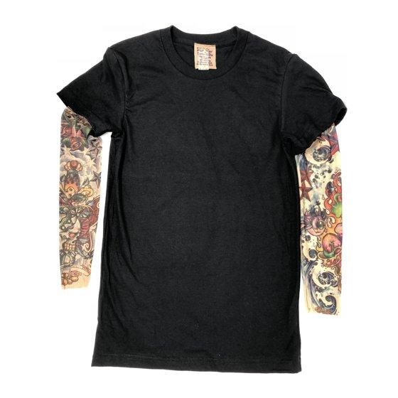 Wild Rose Tattoo Clothing - Wild Rose LUCKY Ladies Tattoo Sleeve Shirt Cowgirl Love, Black