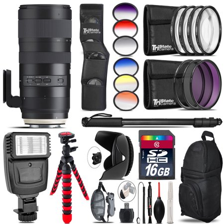 Tamron 70-200mm G2  for Nikon + Flash + Color Filter Set - 16GB Accessory
