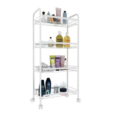 Polymer Utility Cart - Ktaxon 3 Tier Shelving Rack Rolling Kitchen Storage Utility Trolley Cart