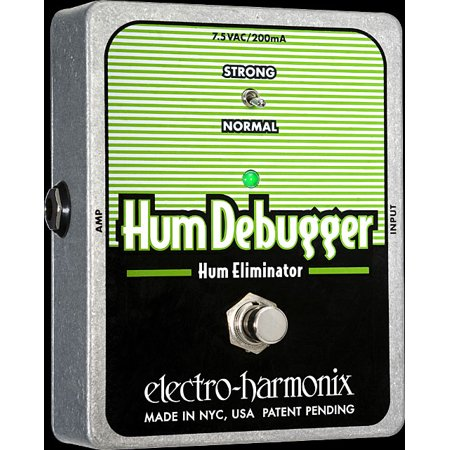 Nady Hum Eliminator - Electro Harmonix Hum Debugger Hum Eliminator Effect Pedal with Power Supply Part Number: HUMDEBUGGER