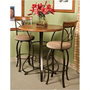 Bowery Hill Pub Table in Matte Pewter and Bronze