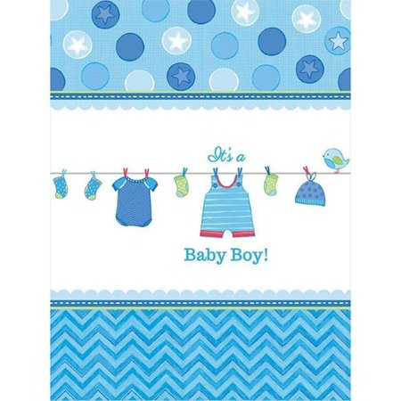 Baby Shower Boy Shower with Love Plastic - Baby Boy Candy Table
