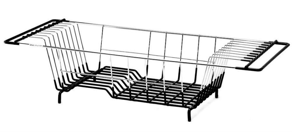 Neat-O Over-The-Sink Kitchen Dish Drainer Rack, Durable Chrome-plated Steel