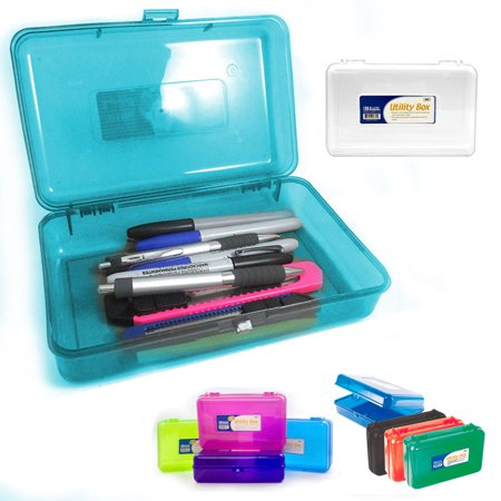 Plastic Pencil Box Case Kids School Office Supplies Pen Art Craft Organizer New School Office Supply