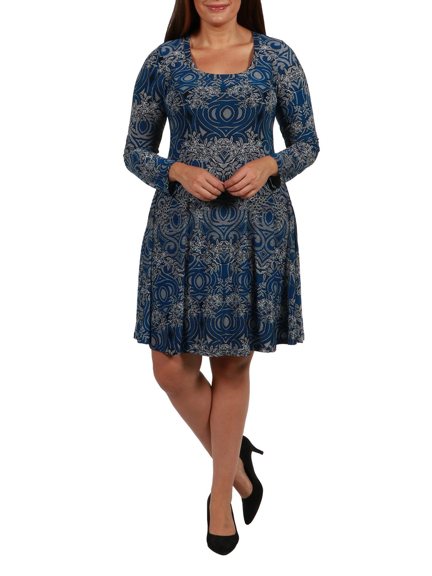 24/7 Comfort Apparel - London Plus Size Dress - Walmart.com