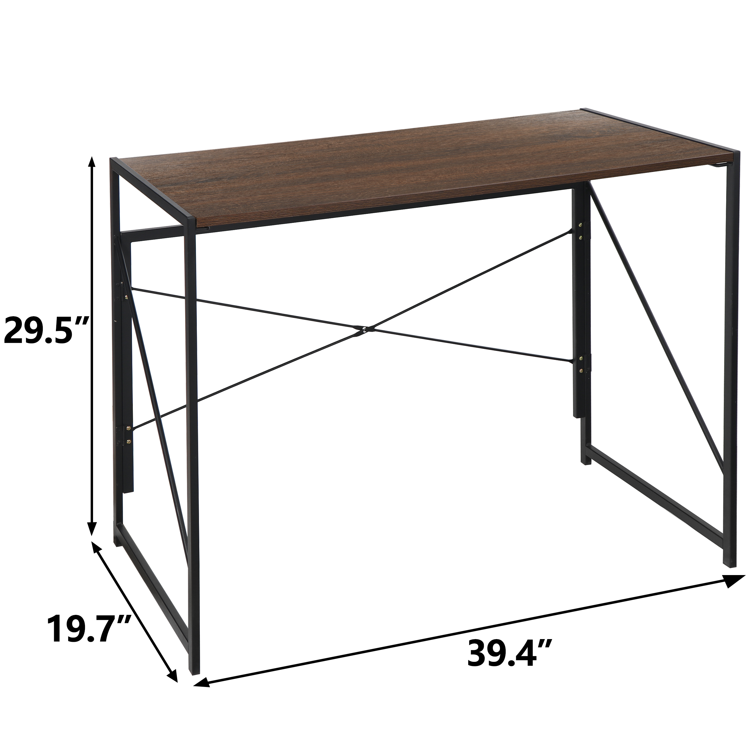 Industrial Style Writing Study Table For Home Office Vintage Brown Simple Study Table Orfeld Computer Desk 43 Office Desk With 0 6 Thicker Tabletop Home Kitchen Home Office Furniture