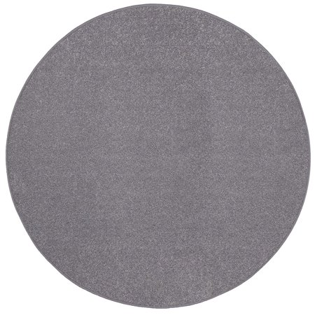 Saturn Collection Solid Color Area Rugs Grey - 4