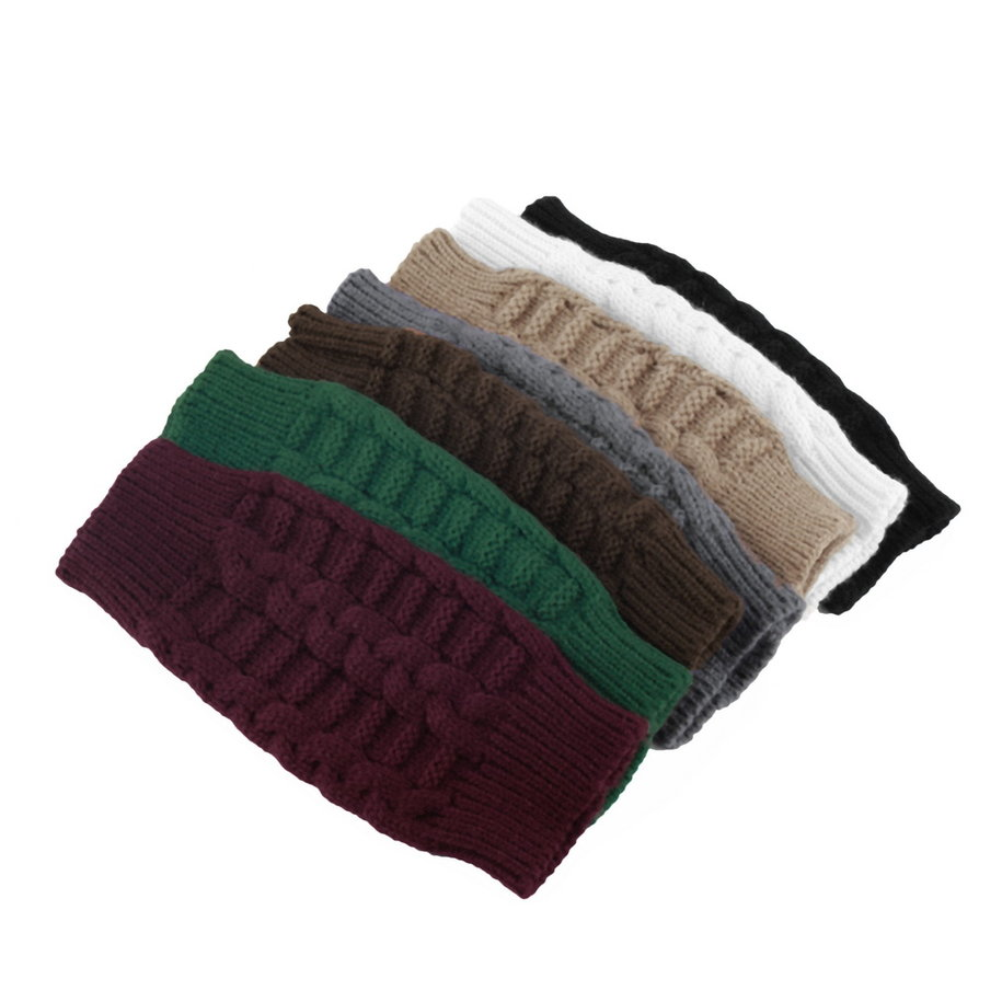 Fashion Unisex Men Women Knitted Fingerless Winter Gloves Soft Warm Mitten