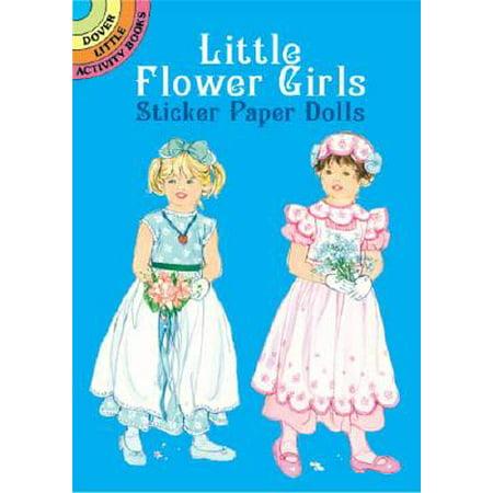 - Little Flower Girls Sticker Paper Dolls