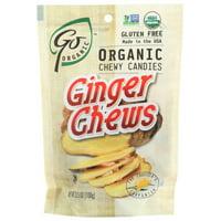 Go Organic Ginger Chews, 3.5 Oz, 3.5 Oz, Pack Of 6
