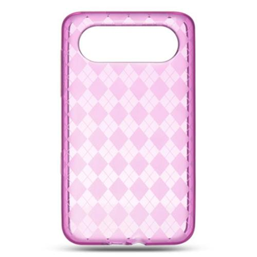 DreamWireless CSHTCHD7HPCK HTC HD7 Crystal Skin Case, Hot Pink Checker