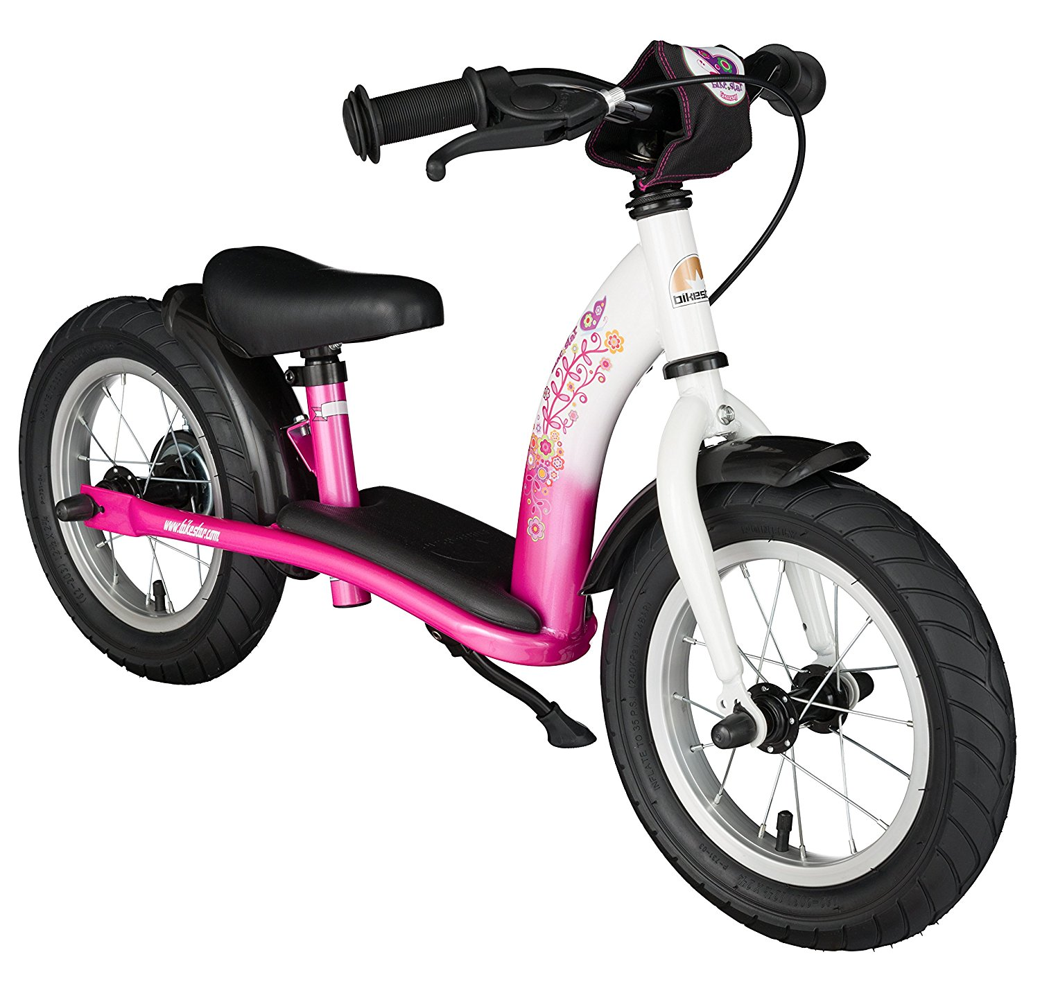 BikeStar 10 inch Kids Training Balance Bike Classic Pink and White by Star Trademarks