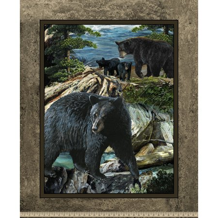 Wild Wings Bear Essence Bear Panel Fabric
