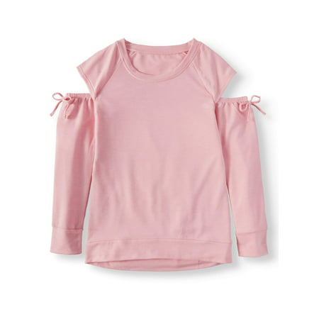 Cold Shoulder Long Sleeve Tunic Top (Little Girls & Big Girls)