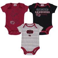 Newborn & Infant Russell Athletic Garnet South Carolina Gamecocks Three-Pack Bodysuit Set