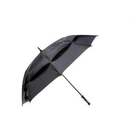 """Golf Gifts and Gallery 62"""" Windbuster Canopy Umbrella, Black"""