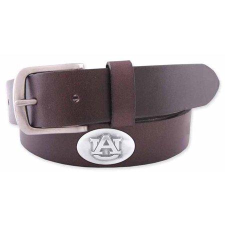 Auburn Concho Brown Leather Belt (Ashburn Leather)
