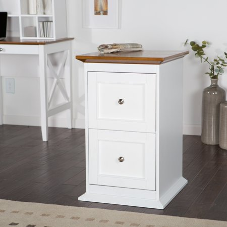Belham Living Hampton 2-Drawer Wood File Cabinet - White ...