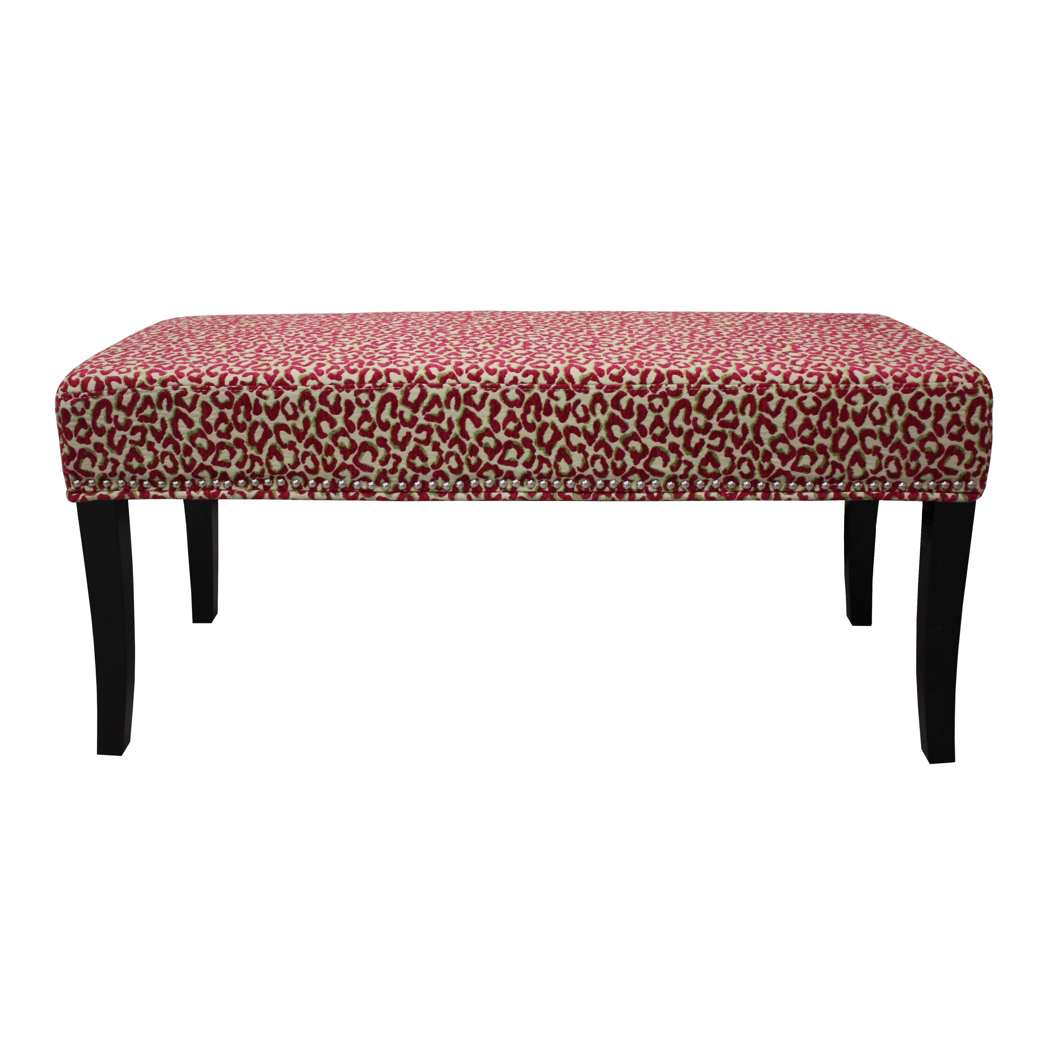 Hd Couture Pink Cheetah Chenille 40 Inch Bench Walmartcom
