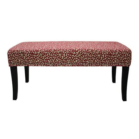 Super Hd Couture Pink Cheetah Chenille 40 Inch Bench Walmart Com Ibusinesslaw Wood Chair Design Ideas Ibusinesslaworg