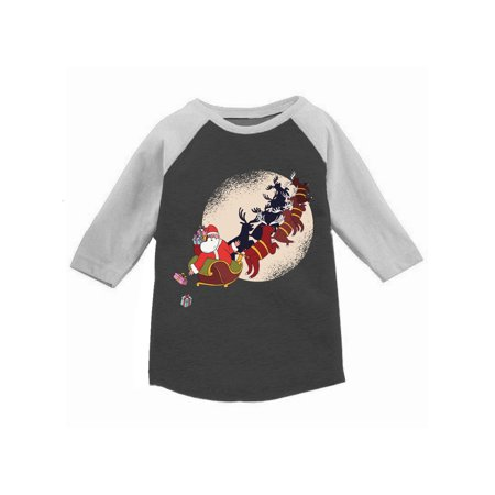 Awkward Styles Boys Girls Ugly Christmas T-Shirt Xmas Gifts Santa Raglan Shirt Kids ()