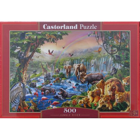 Castorland JUNGLE RIVER 500 pc Jigsaw Puzzle African Wildlife
