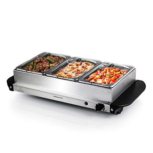 Ovente Electric Food Buffet Server Warmer 3 Stainless Steel Chafing Dishes With Temperature Control And Easy Countertop Heating For Home Dinner Outdoor Party Holiday And Catering Silver Fw173s Walmart Com