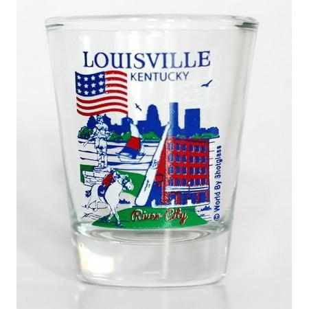Louisville Kentucky Great American Cities Collection Shot Glass (Party City Louisville Kentucky)