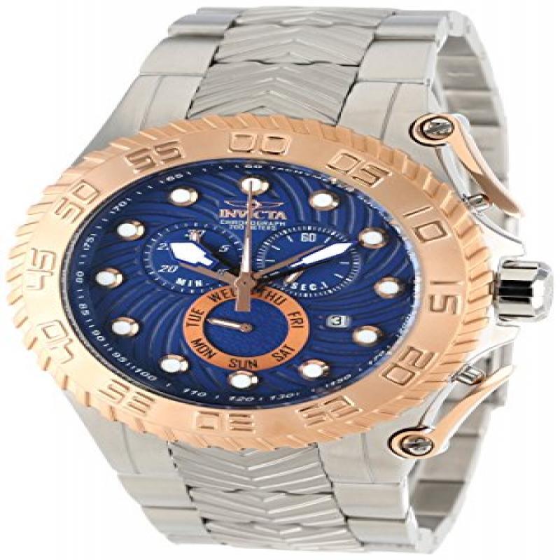 Invicta Men's 12939 Pro Diver Chronograph Blue Textured D...
