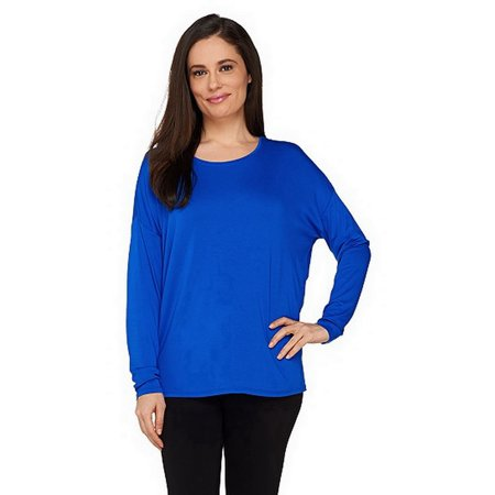 VIEW by WALTER BAKER Womens Long Sleeve Knit Top Cobalt Blue