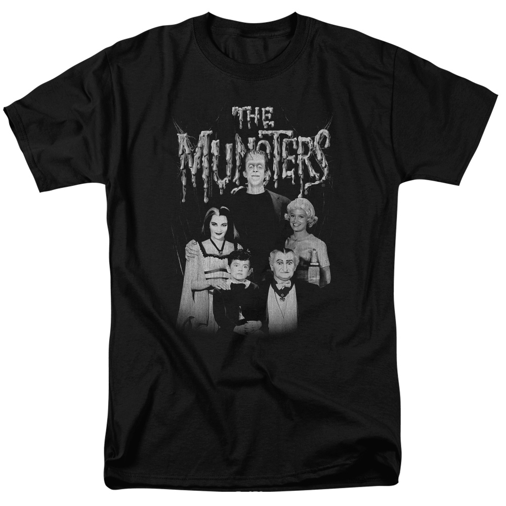 The Munsters Monster Family Sitcom TV Show Family Portrait Adult T-Shirt Tee