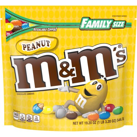 M&M'S, Peanut Milk Chocolate Candies, 19.2 Oz Bag