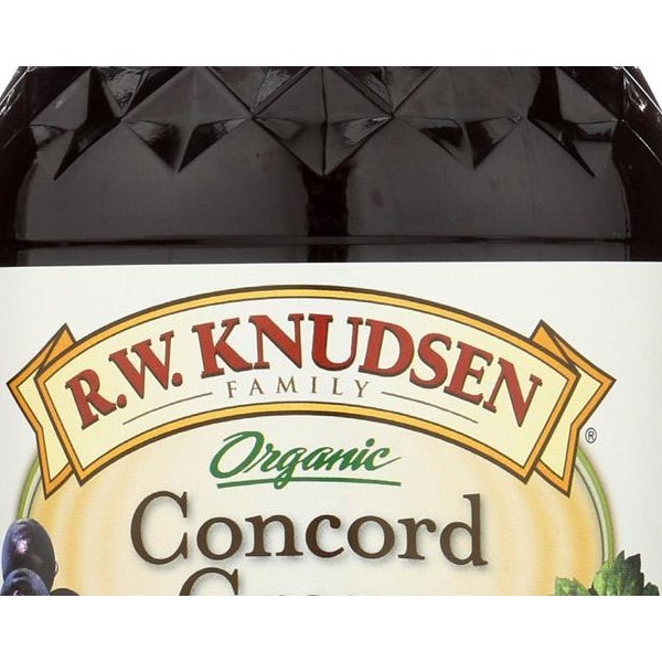 R.w. Knudsen Organic Juice - Concord Grape - Pack of 6 - 32 Fl Oz