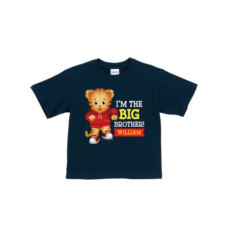 Personalized Daniel Tiger's Neighborhood Big Brother Toddler Boy Navy T-Shirt