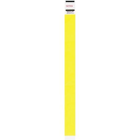 Advantus, AVT91123, Neon Tyvek Wristbands, 500 / Pack, Neon Yellow