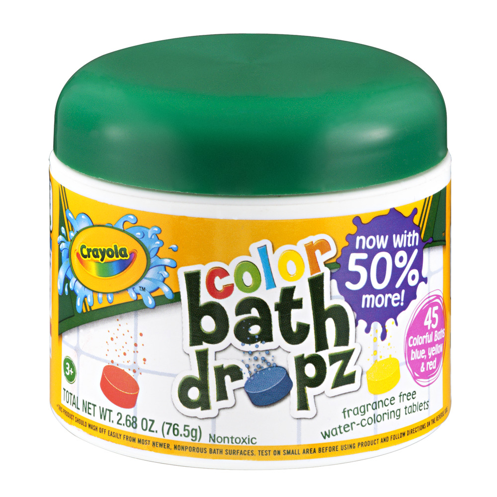 Crayola Bath Dropz Color, 2.68 OZ