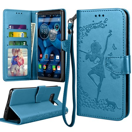Galaxy Note 8 Case, Note 8 Wallet Case, Samsung Galaxy Note 8 Flip Cover, Tekcoo Luxury Premium PU Leather [Blue] ID Cash Credit Card Slots Holder Clutch Carrying Cases w/ Kickstand & (Galaxy Note 1 Vs Galaxy Note 2)