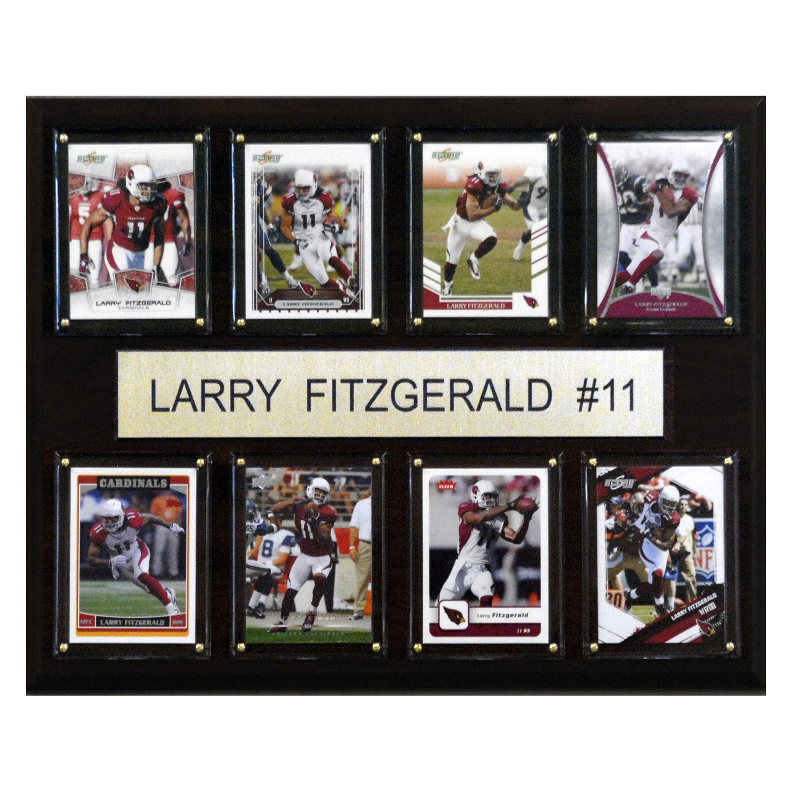 "C & I COLLECTABLES NFL 12""x 15"" Larry Fitzgerald Arizona Cardinals 8 Card Plaque"