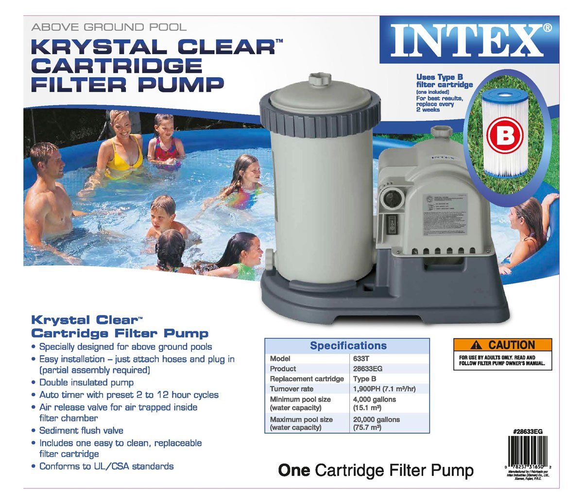Intex Krystal Clear Pool Filter Cartridge Pump & Plunger Valves Gaskets (2  Pack) - Walmart.com