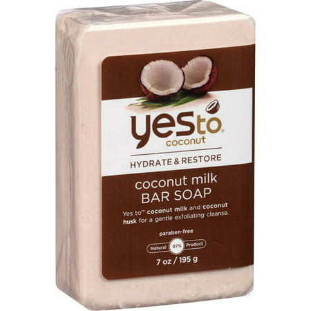 Milk Triple Milled Soap (Yes to Coconut Hydrate and Restore Milk Bar Soap Coconut 7.0 Oz )