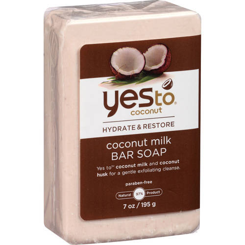 Yes to Coconut Hydrate and Restore Milk Bar Soap, Coconut, 7.0 Oz