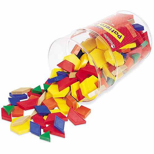 Generic Learning Resources Plastic Pattern Blocks, Set of 250