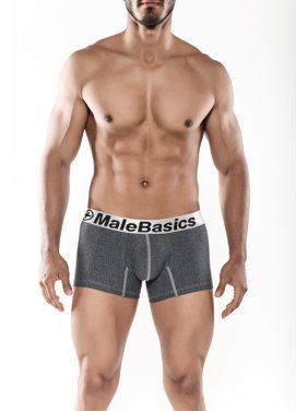 0bc210df7f74 Product Image MaleBasics Men's Cotton Fitted Boxer Short -Asphalt-Large