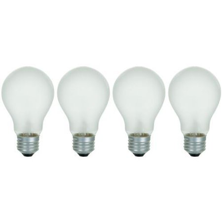 4PK - Sunlite 01017-SU 60w A19 E26 A/RS/4PK 130v Frost Incandescent lamp