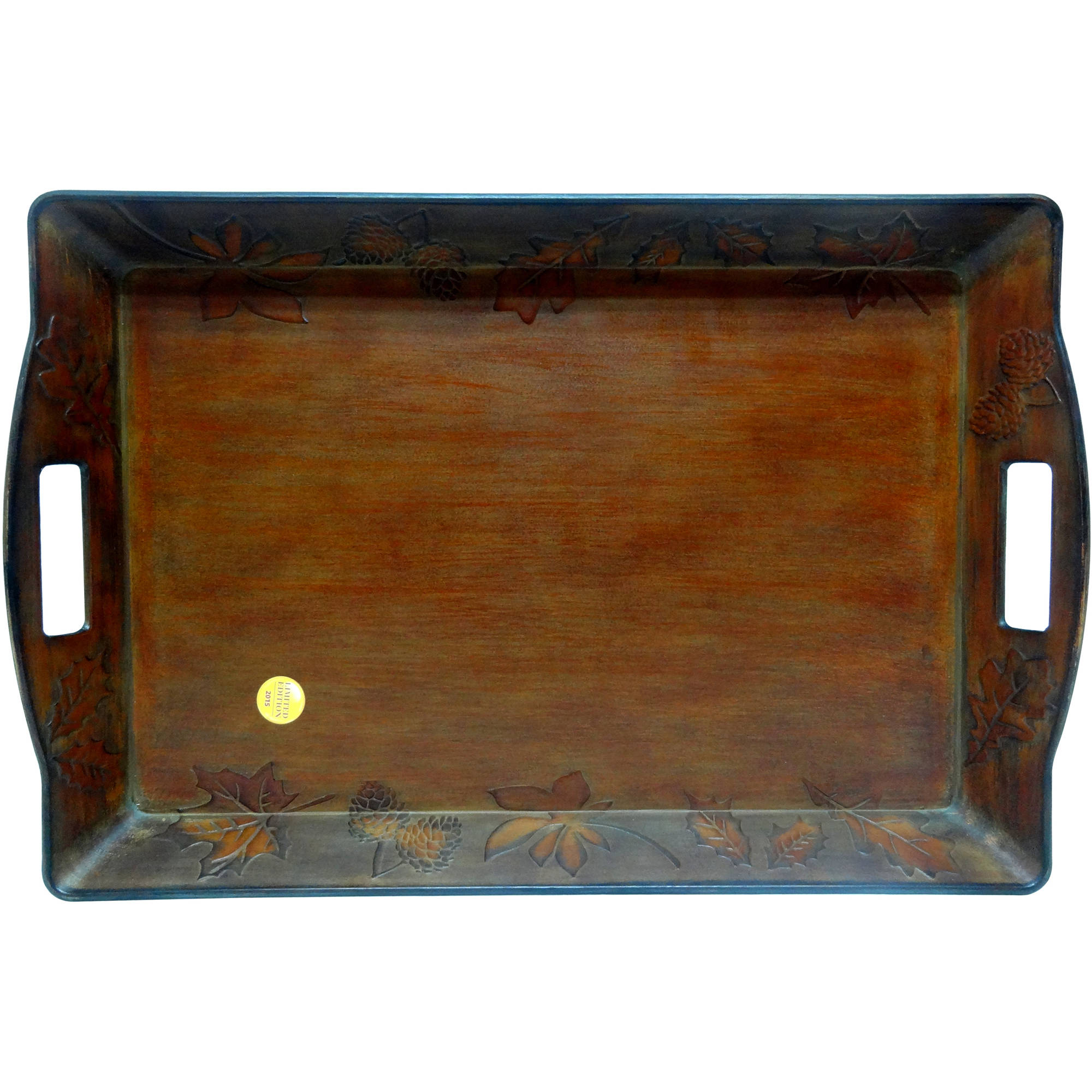 Better Homes And Garden Tray, Maple Icon Antique Copper, Set Of 2